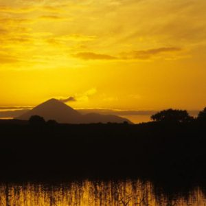 Croagh Patrick at sunset