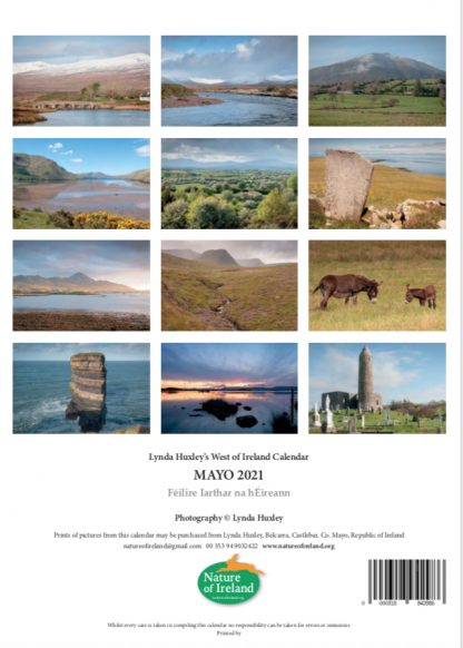2021 Calendar back page
