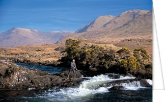 Salmon fishing in the Bundorragh River on the Delphi Estate, County Mayo