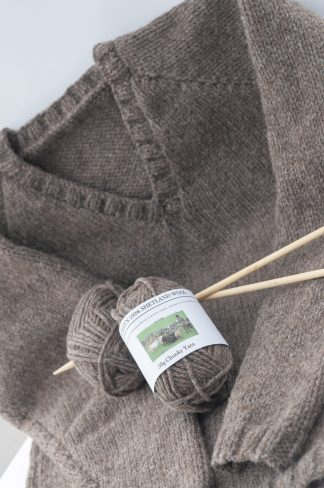 Balls of Shetland Wool and Jumper