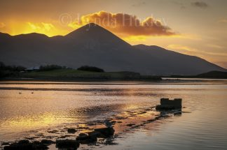 Croagh Patrick at Sunset Print